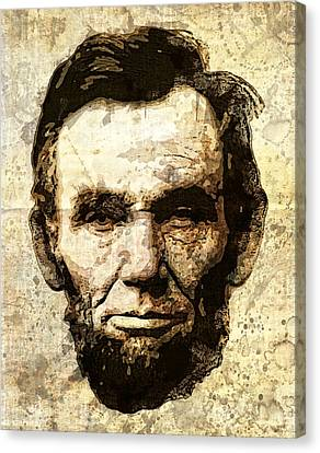 Lincoln Sepia Grunge Canvas Print