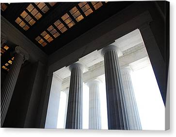 Lincoln Stained Glass And Columns Canvas Print