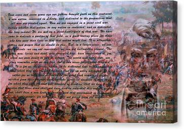 Lincoln's Gettysburg Address Canvas Print