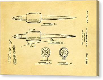 Lindbergh Hood Ornament Patent Art 1950 Canvas Print by Ian Monk