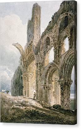 Lindisfarne Abbey Canvas Print by Thomas Girtin