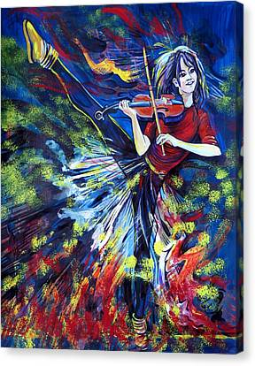 Lindsey Stirling. Dancing Violinist Canvas Print by Anna  Duyunova