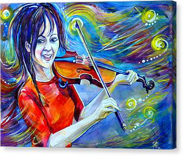 Lindsey Stirling Magic Canvas Print by Anna  Duyunova