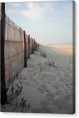Canvas Print featuring the digital art Line In The Sand by Kelvin Booker