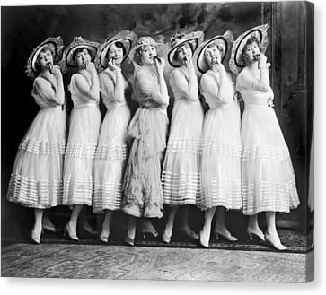 Line Of Seven Theater Women Canvas Print