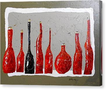 Line Of Wine Canvas Print
