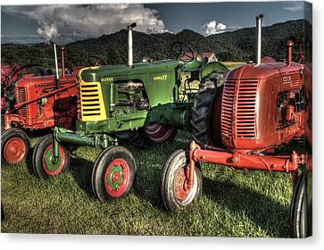 Lined Up Canvas Print by Michael Eingle