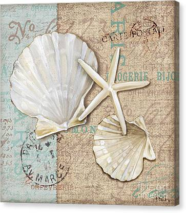 Linen Shells I Canvas Print by Paul Brent