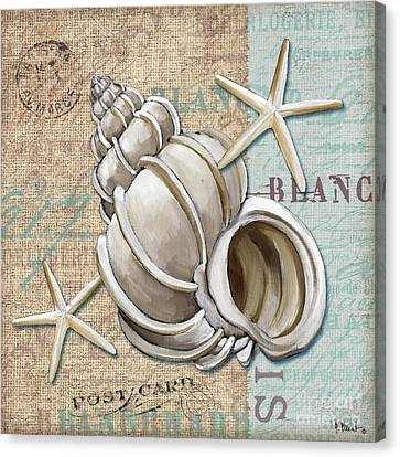 Linen Shells Iv Canvas Print by Paul Brent