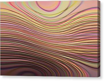 Lines And Circles -p08a Canvas Print by Variance Collections