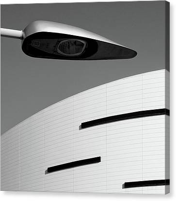 Miami Canvas Print - Lines And Lamp by Dave Bowman