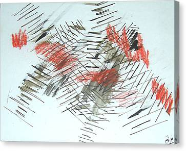 Canvas Print featuring the painting Lines In Movement by Esther Newman-Cohen