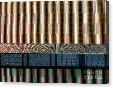 Lines - Pop Canvas Print by Hannes Cmarits