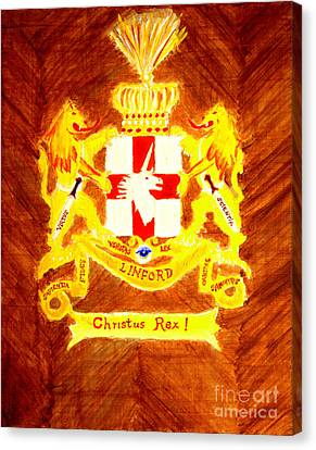 Linford Coat Of Arms Honoring My Ancestors Especially John And Maria Linford Canvas Print