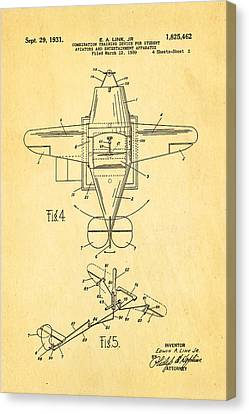 Link Flight Simulator Patent Art 1931 Canvas Print by Ian Monk
