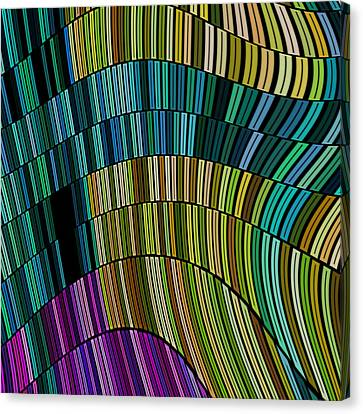 Wavy Canvas Print - Linus - 64c03i by Variance Collections