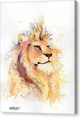 Lion 3 Canvas Print by Arleana Holtzmann