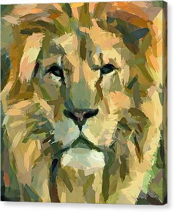 Lion Face Expression Canvas Print by Yury Malkov