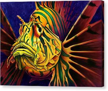 Lionfish Canvas Print by Scott Spillman