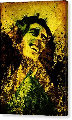 Dread Canvas Print - Lion From Jamaica by Bekim Art