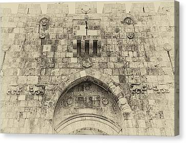 Lion Gate Jerusalem Old City Israel Canvas Print