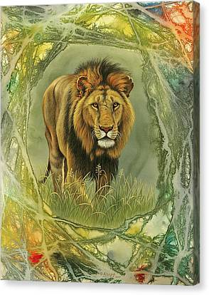 Lion In Abstract Canvas Print by Paul Krapf