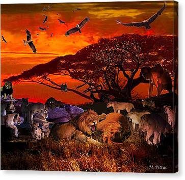 Lion Kill'98 Canvas Print