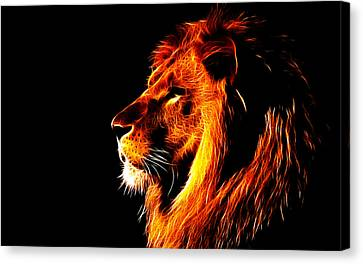 Lion King Canvas Print by Fellow Store