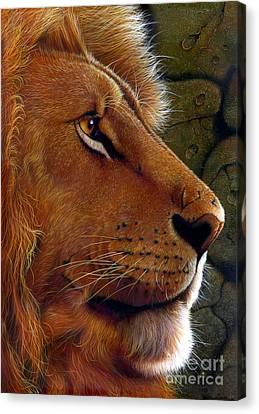 Lion King Canvas Print by Jurek Zamoyski