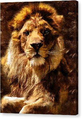 Lion King Of Beasts Canvas Print