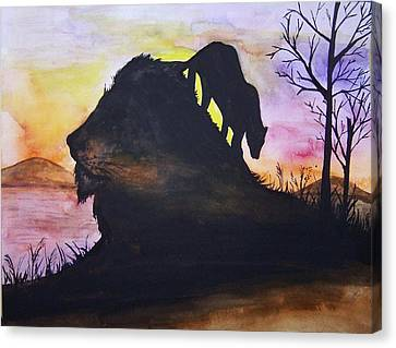 Lion Canvas Print by Laneea Tolley