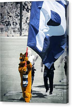 Penn State Canvas Print - Lion Leading The Team by Dawn Gari