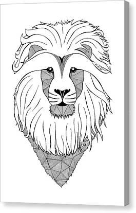 Lion Light Canvas Print by Art Et Be