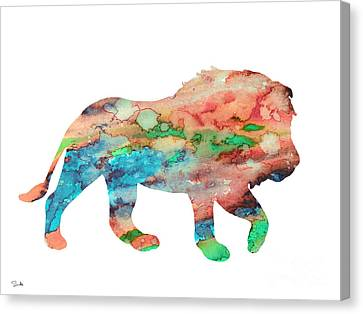 Lion Canvas Print by Watercolor Girl