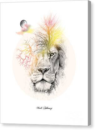 Caricature Canvas Print - Lion by Mark Ashkenazi