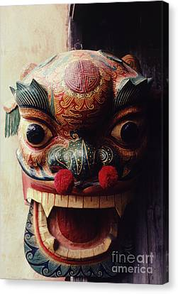 Lion Mask For Chinese New Year Canvas Print by Anna Lisa Yoder