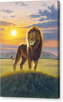 Lion Canvas Print by MGL Studio - Chris Hiett