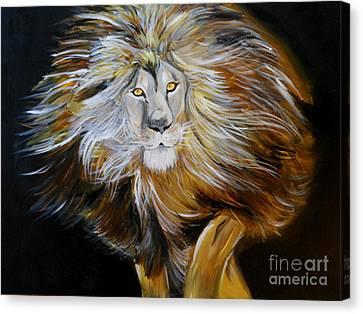 Lion Of Judah Canvas Print by Amanda Dinan
