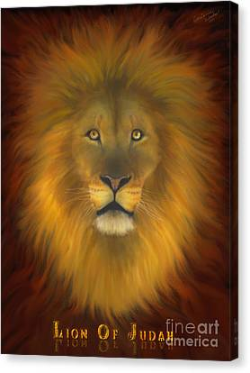 Lion Of Judah Fire In His Eyes 2 Canvas Print by Constance Woods
