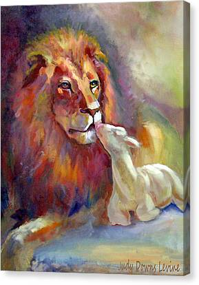 Lion Of Judah Lamb Of God Canvas Print