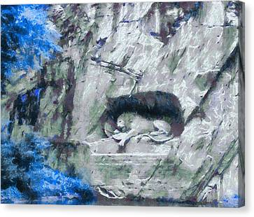 Lion Of Lucerne Canvas Print by Dan Sproul