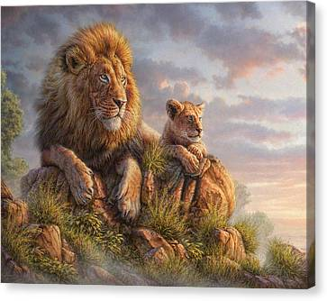 Foliage Canvas Print - Lion Pride by Phil Jaeger