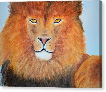 Lion Selfie Canvas Print by Ken Figurski