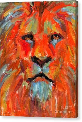 Lion Canvas Print by Svetlana Novikova