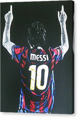 Lionel Messi - Barcelona Fc Canvas Print
