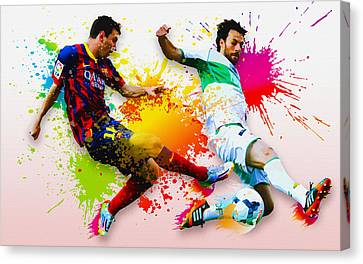 Lionel Messi Of Fc Barcelona Canvas Print