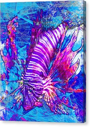 Lionfish In Living Color 5d24143mp168p88 Canvas Print