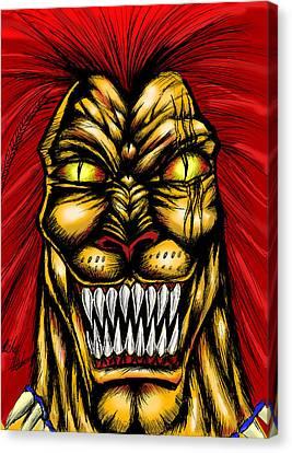 Thundercats Canvas Print - Liono by Michael Mestas