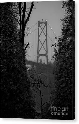 Lions Gate Bridge Canvas Print by Nancy Harrison