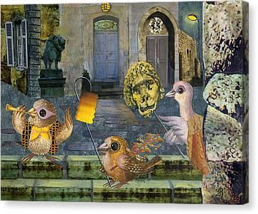 Jerusalem Canvas Print - Lions In The Night by Nekoda  Singer